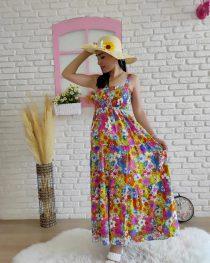 Askılı Çiçek Elbise (renkli)