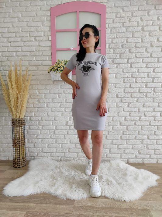 Francisso Baski Elbise gri-1