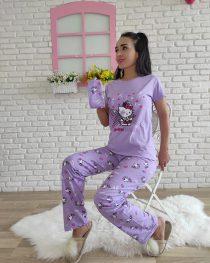 Hello Kitty Pijama Takımı (lila)