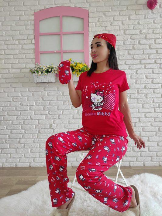 Hello Kitty Pijama Takımı (kırmızı)