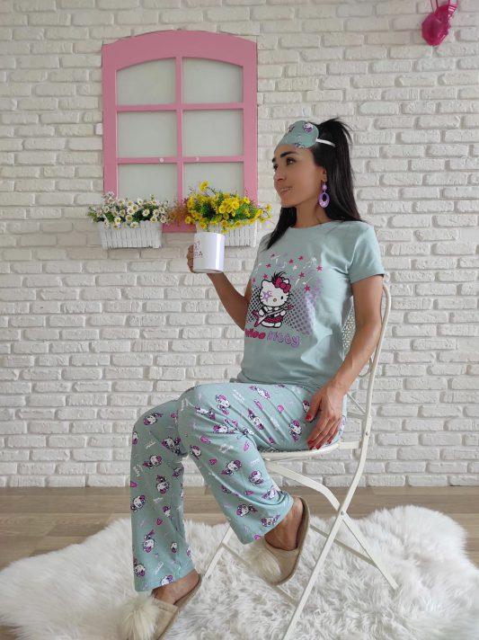 Hello Kitty Pijama Takımı (yeşil)