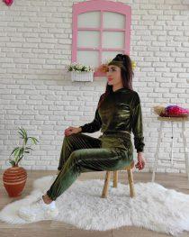 Kadife Eşofman Takımı New (yeşil)