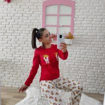 Pop Corn Pijama Takımı (Kırmızı Yeni)