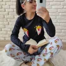 Pop Corn Pijama Takımı (Lacivert)